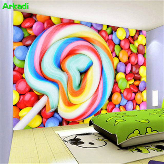 Customize any size colorful lollipop candy TV background wall ...