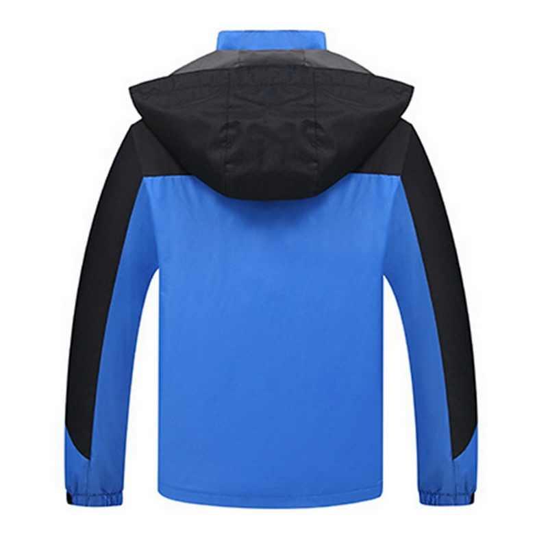 גברים בתוספת גודל אביב סתיו סלעית מעילים דק ספורט מעילי להאריך ימים יותר ברדס מעיל עמיד למים זכר מעיל רוח מעילי מכירה לוהטת