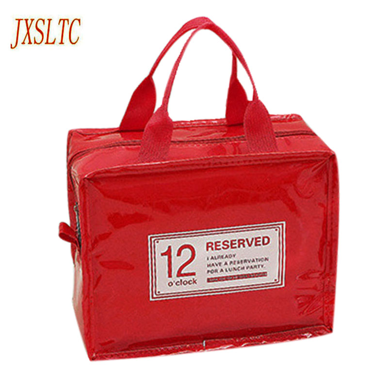 PU Leather Lunch Package Ice Pack Lunchbags Tote Cooler Lunch Box Insulation Picnic Bag Thermo Thermal Lunch Bags for Women Kids