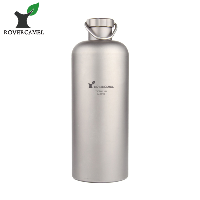 Rover Camel 600ml Titanium Cycling Water Sport bottle Lightweight Camping Drinkware with Titanium lid and Bottle coat Ta8383 wi fi роутер tp link archer c60 archer c60