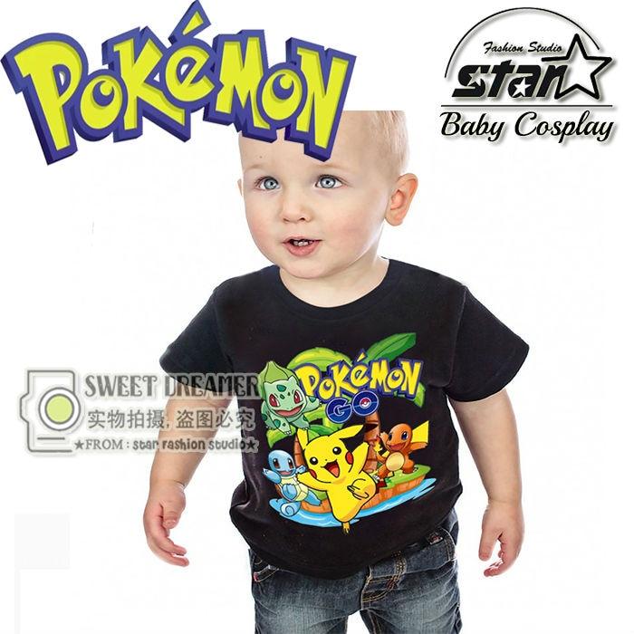 Pokemon Go font b Kids b font Toddler Baby Boys Tee t Shirt Tops font b