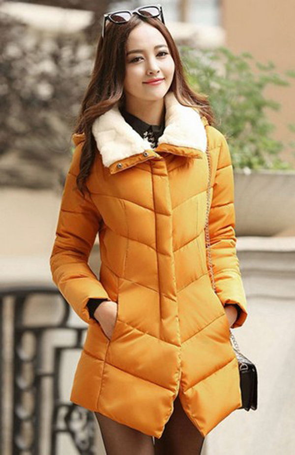 Fashion 2014 women winter zipper jackets velvet turn-down collar full sleeve hood thick coats dovetail slim Cotton parkas E360
