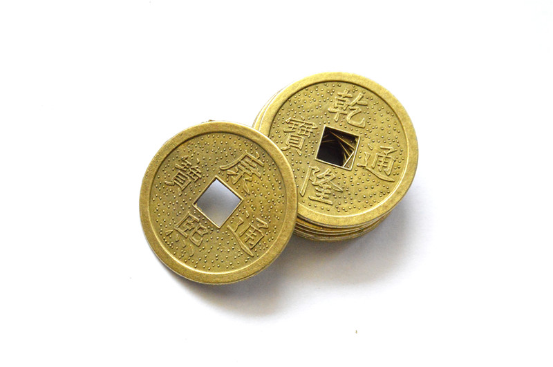 Buy 10pcs 38mm brass chinese ancient feng - Feng shui good luck coins ...