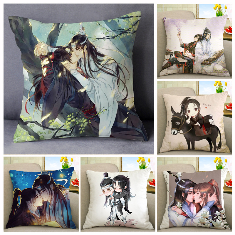 Grandmaster of Demonic Cultivation Wei Wuxian Lan wangji BL Yaoi Pillowcase Pillow Case Cover Cosplay Gift BED/SOFA/CAR Decor Платье