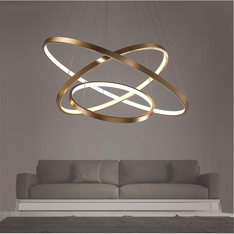Pendant Lights Active 40cm 60cm 80cm Modern Hanging Pendant Lights For Living Room Dining Room Circle Rings Aluminum Body Led Pendant Lights Fixtures Pleasant In After-Taste