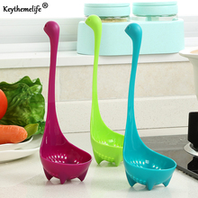 Dinnerware Cartoon Plastic Colander Long Handled Soup Tableware Kitchen Cooking Tools C