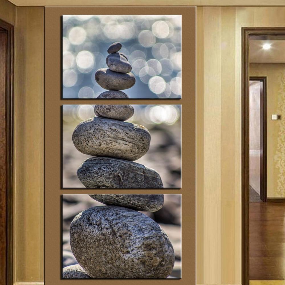 ᗚ(Sin Marcos) 3 unidades piedra paisaje moderno hogar Decoración de ...