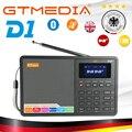 GTMEDIA D1 портативный цифровой радио FM стерео/RDS многодиапазонный радио динамик с ЖК-дисплеем будильник