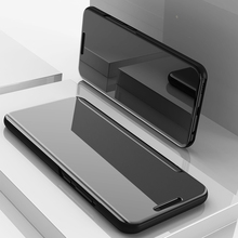 купить Clear View Mirror Flip Case For Samsung Galaxy J2 Core Cover Luxury PU Leather Smart Cover For Samsung Galaxy J2 Core Case дешево