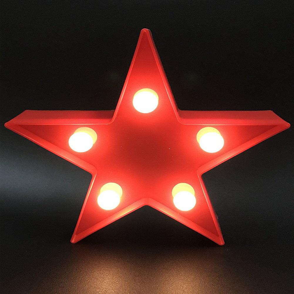LumiParty 3D LED Creative Night Light China Style Pentagram Night-Light Lamp Children Bedroom Decoration