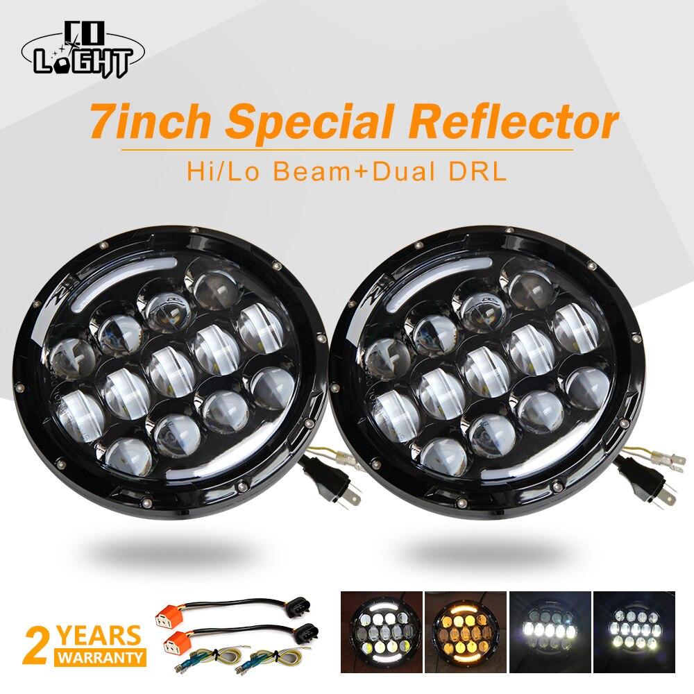 CO LIGHT 7 105W LED Headlight H4 H13 DRL Turn Signal Light for Jeep CJ/Wrangler JK Land Rover Defender Lada Led Driving Light