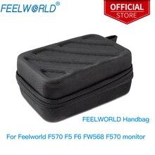 """Feelworld bolsa portátil caso de transporte para feelworld f570 f5 f6 fw568 f570 f6 plus s55 etc 5.7 """"câmera monitor campo"""