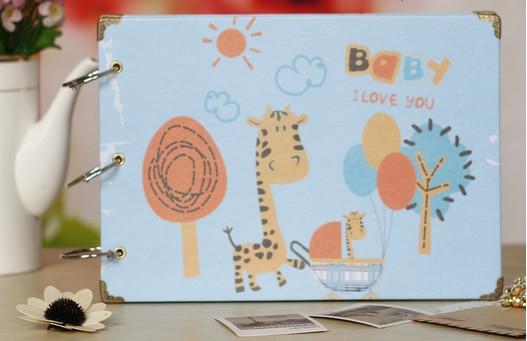 2016 Happy childhood Photos Album Children Family Memory Record Sticky Style Photo Album Scrapbooking Birthday Gift For baby