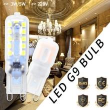 Mini LED Bulb G9 LED Lamp 220V g9 Corn Bulb 3W 5W Ampoule Chandelier Led Candle Light Replace 30W 40W Halogen Lamp 240V SMD 2835 цена в Москве и Питере