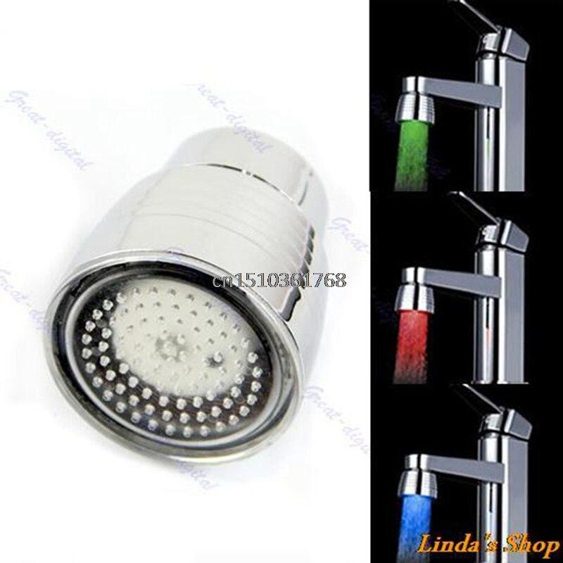 100% QualitäT Neue Temperatur Sensor 3 Farbe Küche Wasserhahn Wasserhahn Rgb Glow Dusche Led Licht # Y05 # # C05 # Ausreichende Versorgung