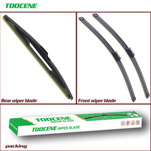 цена на Front And Rear Wiper Blades For Peugeot 208 2012 2013 2014 2015 2016 Rubber Windshield Windscreen Wiper Auto Car Accessories