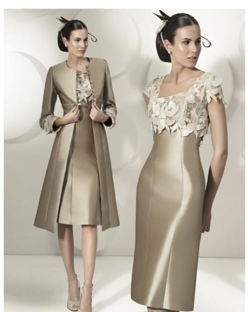 Платье для матери невесты платье по колено с курткой горячая Распродажа элегантное вечернее платье-футляр