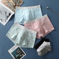 Male Underpants Men Underwear Boxers Shorts Cotton Men Boxers Soft Man Panties Comfortable Breathable Mens Underwear Boxers N3
