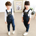 Casual Boys Jeans Overalls Denim Washed Jeans For Boy girla overalls Children's Jeans Baby Boy Trousers