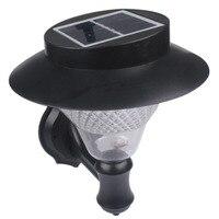 Waterproof IP44 Solar Powered 16 LED Bulbs Fence Gutter Light Outdoor Pathway Wall Landscape Yard Light