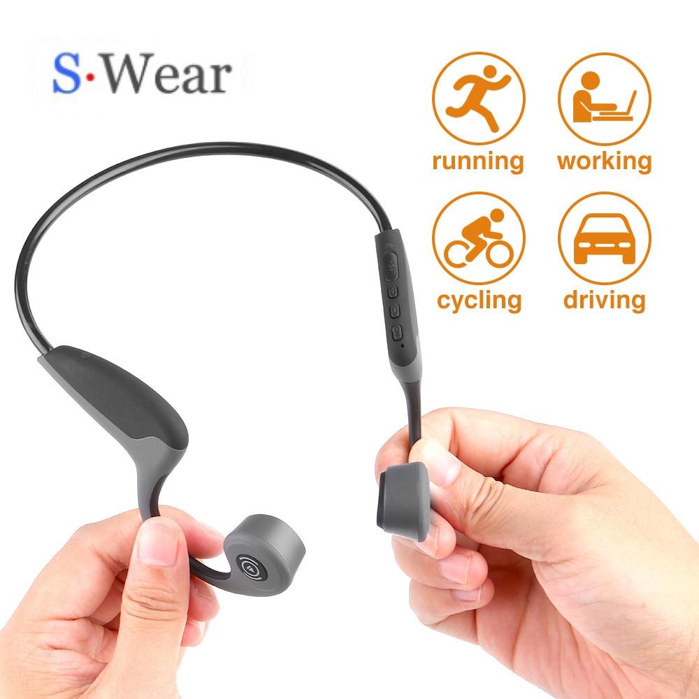 Bluetooth 5.0 S.Wear Z8 Wireless Headphones Bone Conduction Earphone Outdoor Sport Headset with Microphone Handsfree Headsets