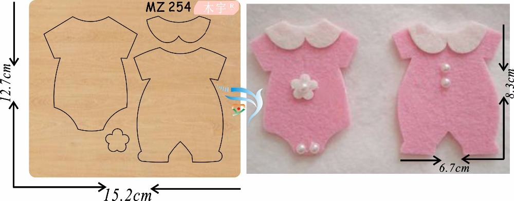 Boy and girl clothes new wooden mould cutting dies for scrapbooking Thickness 15 8mm