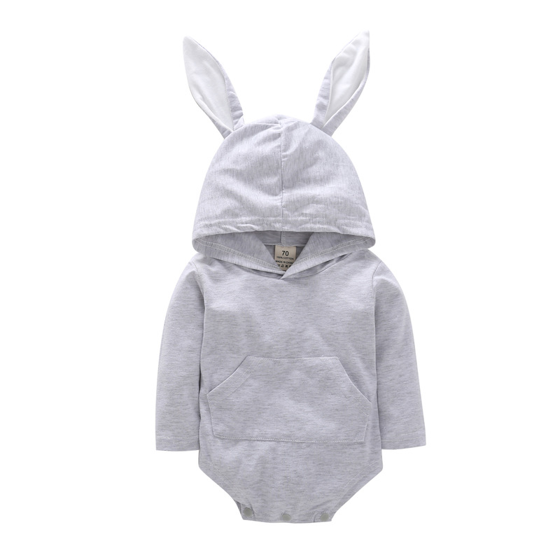 VTOM Hot Sale Baby Rompers For Boys And Girls Infants Long Sleeved Rompers Jumpsuits Baby Solid Rompers Toddle Clothes in Rompers from Mother Kids