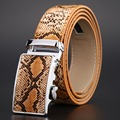 2016 Genuine Leather Snake Belt for Men Automatic buckle Strap New Hot Ceinture Mens Belts Luxury Designer high Quality cowhide