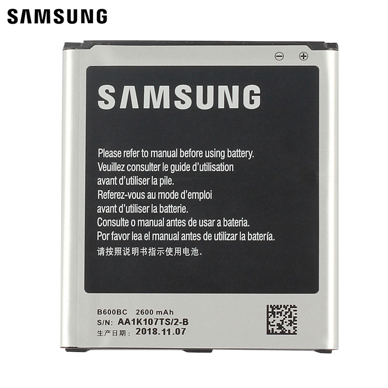 Samsung Original Replacement Battery B600BC B600BE For Samsung GALAXY S4 GT-I9505 I9508 I959 I9500 I9502 Authentic 2600mAh