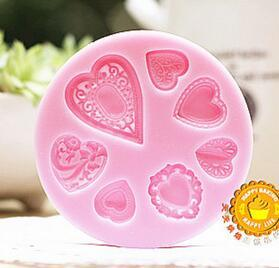 Cake Mold 5 pc rita new heart button mould Silicone Fondant Mold Cake Tools Decorating Chocolate Mold sugarcraft baking Cupcake