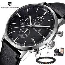 Элитный бренд PAGANI Дизайн Хронограф КОЖА мужские часы кварцевые модные спортивные Военная Униформа наручные для мужчин relogio masculino