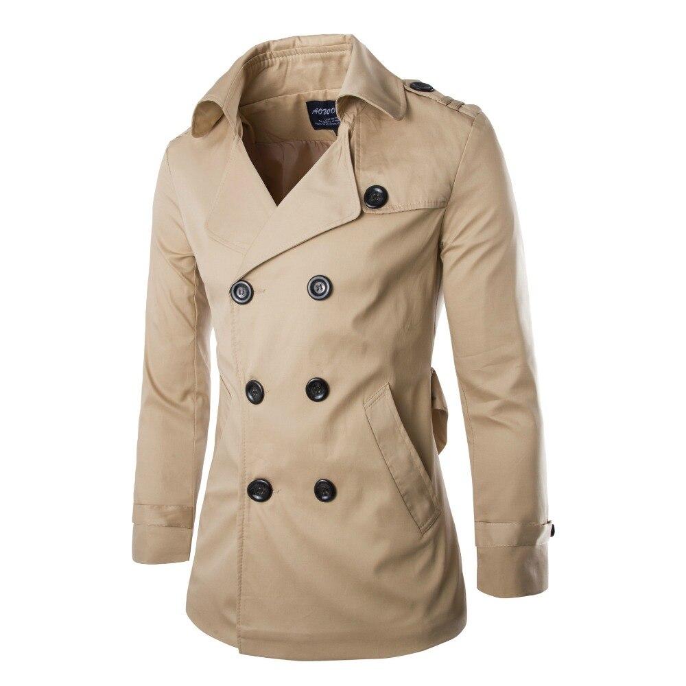 5039fe7d7 JZ jefe de los hombres de Inglaterra doble Breasted Chaqueta Slim Fit  trinchera abrigo hombre Windbreaker Trench abrigo de ropa marco gabardina