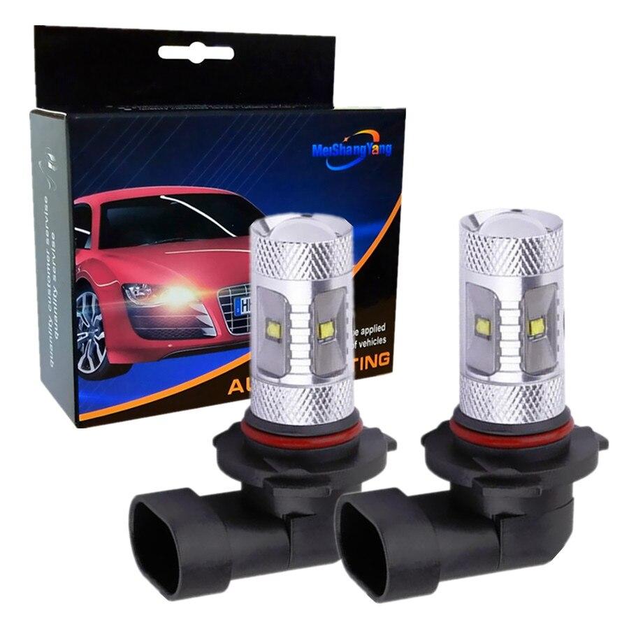 2pcs 9006 hb4 led Bulbs 6 Cree Chip-R3 white High Power LED Car fog running light bulbs 12V car source