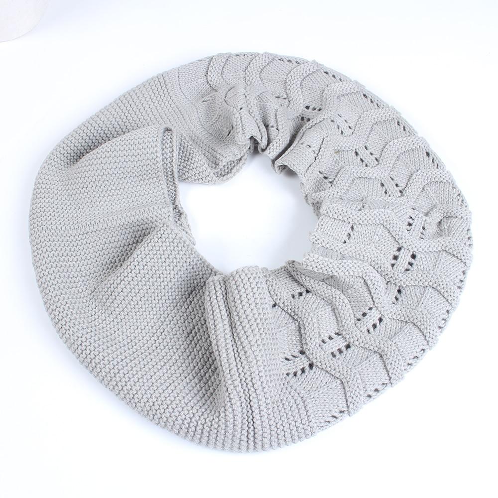 Difanni] moda lazo Bufandas mujeres bufanda que hace punto trenzado ...