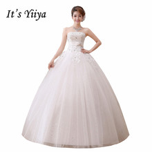 Free Shipping Strapless Bling Sequins Bow Waist Wedding Dresses Cheap White Bridal Frocks Custom Made Vestidos De Novia MH42
