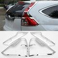 2016 New Car Styling 4 Unids/set Luz Trasera Chrome Lentejuelas Para Honda CRV 2012-2016 Más Nuevo Chapado ABS Cubierta Decoración alta calidad