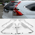 2016 New Car Styling 4Pcs/set Taillight Chrome Sequins For Honda CRV 2012-2016 Newest ABS Plating Decoration Cover High quality