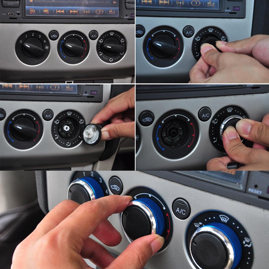 Dewtreetali 3 unids/lote para FORD FOCUS Mondeo, interruptor de aire acondicionado, Mando de CA, cubierta de Control de calor del coche para focus 2 focus 3