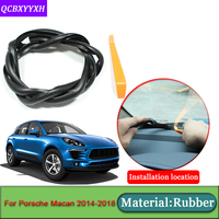 Car-styling For Porsche Macan 2014-2018 Anti-Noise Soundproof Dustproof Car Dashboard Windshield Sealing Strips   Auto   Accessories