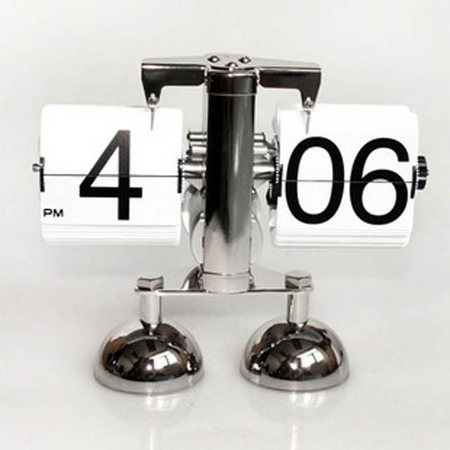 5d3f88acc25 Balança digital de mesa criativa flip clock Retro Virar Relógio de mesa Flip  Engrenagem Interna Operada