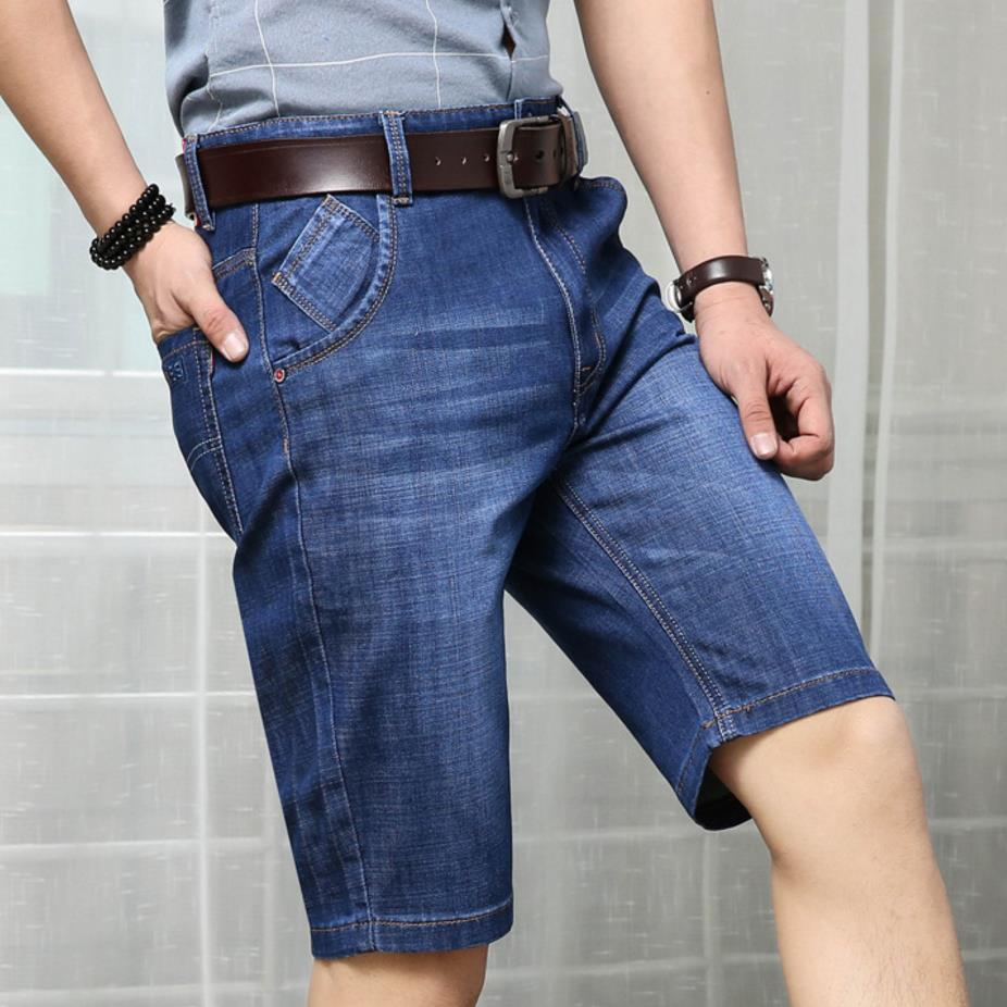 high quality Mens Jeans Shorts Plus Size 30~42 Stretch Thin Denim Jeans Short for Men Summer Jeans