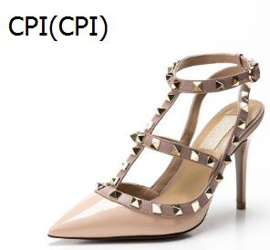 brand women pumps Sandals wedding shoes woman high heel nude fashion Sandals v brand with logo and box 6 8 10 cm 34-43