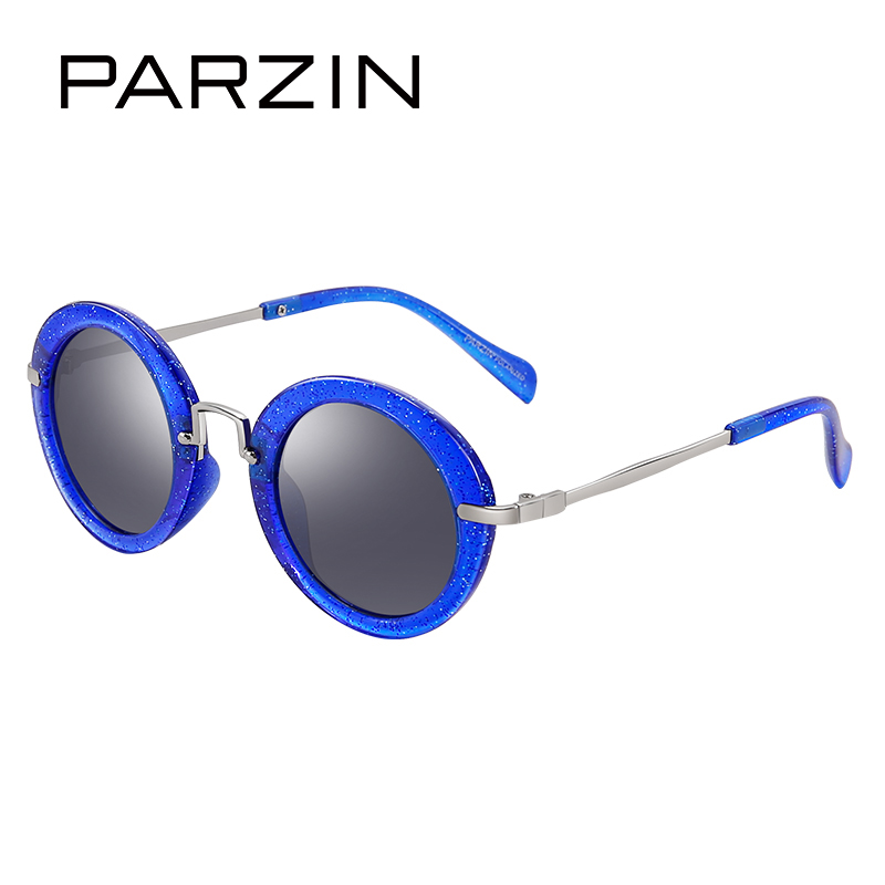 PARZIN Brand High Quality Children Sunglasses Real Polarized Lens Sun Glasses Ultra-Light Frame Cute Round Style Eyewear D2001 veithdia brand fashion men s sunglasses polarized color mirror lens eyewear accessories driving sun glasses for men 3610