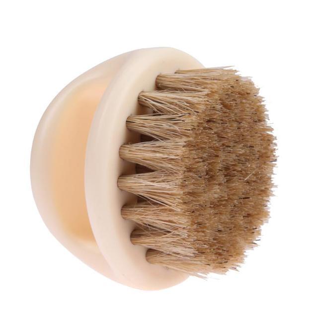 Men's Shaving Brush Natural Firm Horse Hair Beard Brush Barber Male Face Mustache Beard Cleaning Massage Skin Brush Shaver Tools