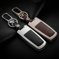 For VW CC Magotan Genuine Leather Car Keychain Key Protective Fob Case Cover Wallet Smart Key