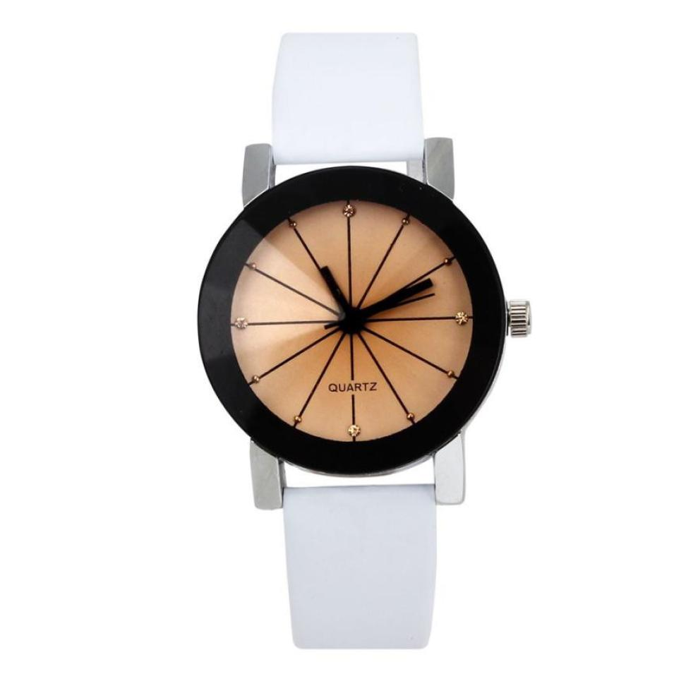 Timezone #401 Relogio Feminino Fashion Leather Quartz Analog Women Watch Casual Ladies Watches High Quality Quartz Wrist Watch 1