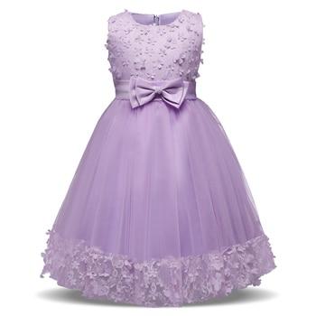 e45c2d0052 3 6 8 años vestidos de niña rosa púrpura rojo partido comunión vestido  niñas niños  niños vestido para la boda Vestido