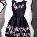 Вискоза Новый Бренд Ремень 2015 Милая Декольте Высокое Качество Сексуальные Женщины Платья Bodycon Платье Оптовая Плюс Размер 2XL COGXH08-2
