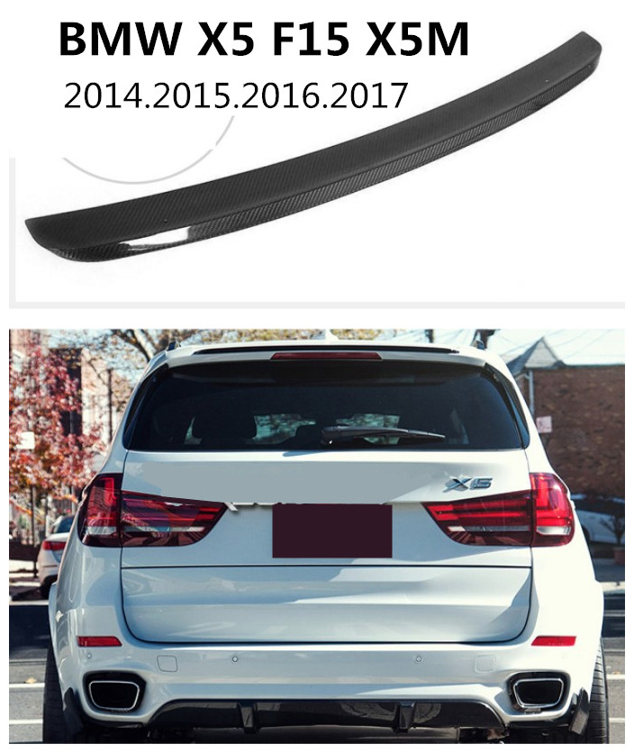 Carbon Fiber Spoiler For BMW X5 F15 X5M 2014.2015.2016.2017 High Quality Car Rear Wing Spoilers Auto Accessories 2007 bmw x5 spoiler