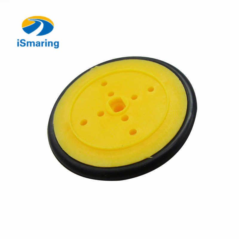 公式ismaring小さなスマート車のタイヤ/タイヤのシャーシプラスチックロボットシャーシホイールゴムdiy rcおもちゃ電子キットロボットモデル